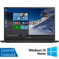 Laptop DELL Latitude 7370, Intel Core M5-6Y57 1.10-2.80GHz, 8GB DDR3, 240GB SSD, 13.3 Inch Full HD, Webcam + Windows 10 Home