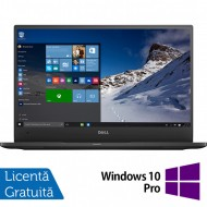 Laptop DELL Latitude 7370, Intel Core M5-6Y57 1.10-2.80GHz, 8GB DDR3, 240GB SSD, 13.3 Inch Full HD, Webcam + Windows 10 Pro