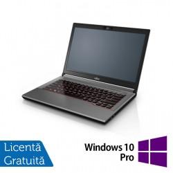 Laptop Fujitsu Lifebook E744, Intel Core i5-4200M 2.50GHz, 4GB DDR3, 120GB SSD, DVD-RW, Fara Webcam, 14 Inch + Windows 10 Pro - ShopTei.ro