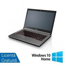 Laptop Fujitsu Lifebook E744, Intel Core i5-4200M 2.50GHz, 4GB DDR3, 120GB SSD, DVD-RW, Fara Webcam, 14 Inch + Windows 10 Home - ShopTei.ro