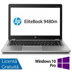 Laptop HP EliteBook Folio 9480m, Intel Core i7-4600U 2.10GHz, 8GB DDR3, 240GB SSD, 14 Inch, Webcam + Windows 10 Pro - ShopTei.ro