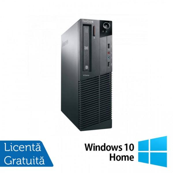 Calculator Lenovo M81 SFF, Intel Core i3-2100 3.10GHz, 4GB DDR3, 250GB SATA, DVD-ROM + Windows 10 Home - ShopTei.ro
