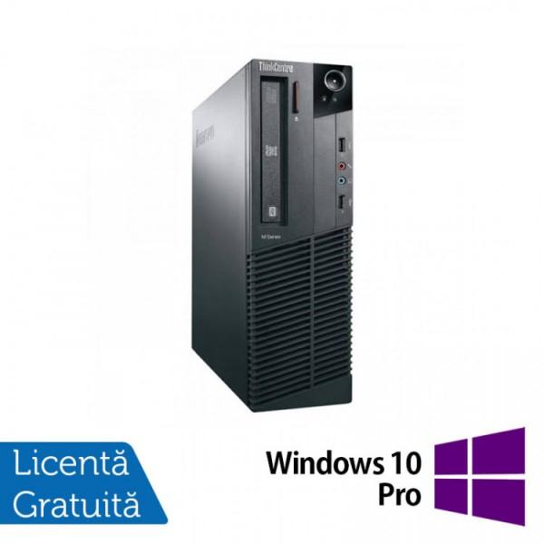 Calculator Lenovo M81 SFF, Intel Core i3-2100 3.10GHz, 4GB DDR3, 250GB SATA, DVD-ROM + Windows 10 Pro - ShopTei.ro