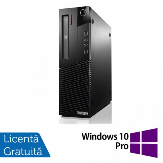 Calculator Lenovo Thinkcentre M93p SFF, Intel Core i3-4130 3.40GHz, 4GB DDR3, 250GB SATA, DVD-RW + Windows 10 Pro