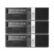 Pachet 3x Calculator HP RP5700 SFF, Intel Core 2 Duo E6400 2.13GHz, 3GB DDR2, 500GB SATA, DVD-RW