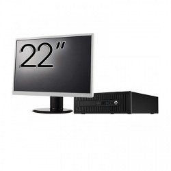 Pachet Calculator HP 800 G1 SFF, Intel Core i7-4770 3.40GHz, 8GB DDR3, 500GB SATA + Monitor 22 Inch - ShopTei.ro