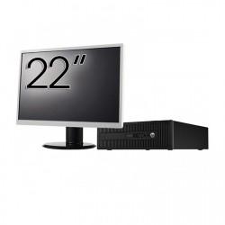 Pachet Calculator HP 800 G1 SFF, Intel Core i7-4770 3.40GHz, 16GB DDR3, 240GB SSD + Monitor 22 Inch - ShopTei.ro