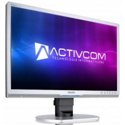 Monitor PHILIPS 220P1, 22 Inch LCD, 1680 x 1050, VGA, DVI, Fara picior