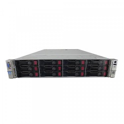 Server HP ProLiant DL380p G8 2U, 2x Intel Deca Core Xeon E5-2660 V2 2.20GHz - 3.00GHz, 64GB DDR3 ECC, 2x2TB SAS/7.2K, Raid P420/1GB, iLO4 Advanced, 2 Port x10 Gigabit SFP, 2xSurse Hot Swap - ShopTei.ro