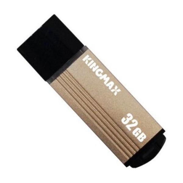 Memorie USB 2.0 KINGMAX 32 GB, Cu capac, Auriu & negru, Carcasa aluminiu - ShopTei.ro