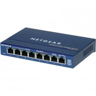 Switch Netgear GS108GE, 8 porturi x 10/100/1000 Mbps, fara management