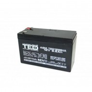 Acumulator stationar VRLA AGM 12V, 9.6 Ah, F2/ T2, TED Electric, Etans, UPS, Back-UP