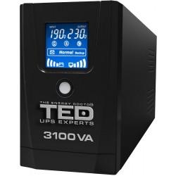 UPS TED Line Interactive 3100VA/1800W, display LCD, 3 x Schuko - ShopTei.ro