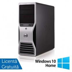 Workstation Dell T5500, Intel Xeon Quad Core E5630 2.53GHz-2.80GHz, 24GB DDR3, 2TB SATA, Placa video Gaming AMD Radeon R7 350 4GB GDDR5 128-Bit + Windows 10 Home - ShopTei.ro