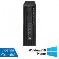 Workstation HP Z240 Desktop, Intel Xeon Quad Core E3-1230 V5 3.40GHz-3.80GHz, 16GB DDR4, SSD 120GB SATA, nVidia K620/2GB, DVD-RW + Windows 10 Home - ShopTei.ro
