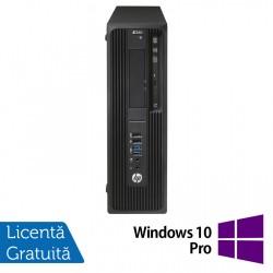 Workstation HP Z240 Desktop, Intel Xeon Quad Core E3-1230 V5 3.40GHz-3.80GHz, 16GB DDR4, SSD 120GB SATA, nVidia K620/2GB, DVD-RW + Windows 10 Pro - ShopTei.ro