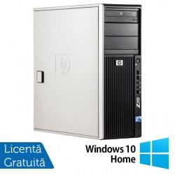 WorkStation HP Z400, Intel Xeon Quad Core W3520 2.66GHz-2.93GHz, 12GB DDR3, 1TB SATA, Placa video Gaming AMD Radeon R7 350 4GB GDDR5 128-Bit, DVD-RW + Windows 10 Home - ShopTei.ro