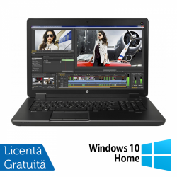 Laptop HP Zbook 17 G2, Intel Core i7-4710MQ 2.50GHz, 16GB DDR3, 512GB SSD, NVIDIA Quadro K3100M, DVD-RW, 17.3 Inch Full HD, Tastatura Numerica, Webcam + Windows 10 Home - ShopTei.ro