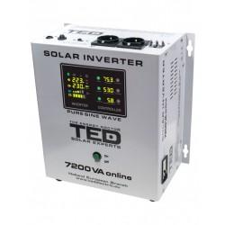 Invertor Solar De La 48v La 230v 7200va / 5000w Unda Sinusoidala Ted - ShopTei.ro