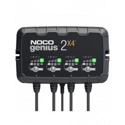 Redresor Noco Genius2x4 Auto Moto 6v / 12v 4 X 2a Pentru Acumulatori Plumb-acid Agm Gel Vrla Litiu