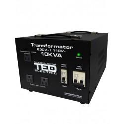 Transformator 230-220v La 110-115v 10000va/8000w Cu Carcasa Ted110-8000w Ted Electric - ShopTei.ro
