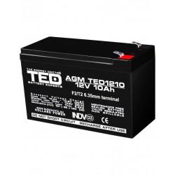 Acumulator Stationar 12v 10ah F2 Agm Vrla Ted Electric - ShopTei.ro
