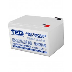 Acumulator Stationar 12v 14,5ah High Rate F2 Agm Vrla Ted Electric - ShopTei.ro