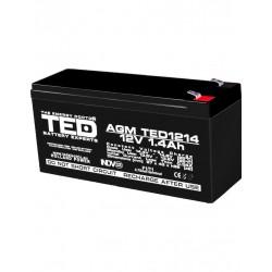 Acumulator Stationar 12v 1,4ah F1 Agm Vrla Ted Electric - ShopTei.ro