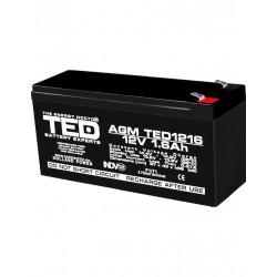 Acumulator Stationar 12v 1,6ah F1 Agm Vrla Ted Electric - ShopTei.ro
