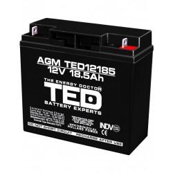 Acumulator Stationar 12v 18,5ah F3 Agm Vrla Ted Electric