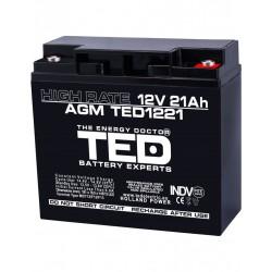 Acumulator Stationar 12v 21ah High Rate M5 Agm Vrla Ted Electric