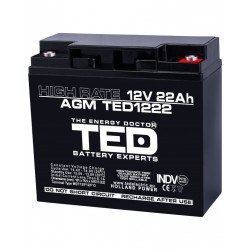 Acumulator Stationar 12v 22ah High Rate M5 Agm Vrla Ted Electric