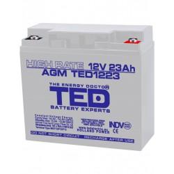 Acumulator Stationar 12v 23ah High Rate M5 Agm Vrla Ted Electric