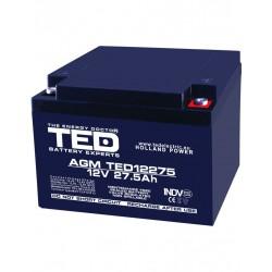 Acumulator Stationar 12v 27,5ah M5 Agm Vrla Ted Electric