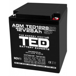 Acumulator Stationar 12v 28ah M5 Agm Vrla Ted Electric