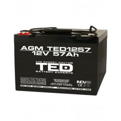 Acumulator Stationar 12v 57ah M6 Agm Vrla Ted Electric