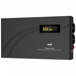 Stabilizator Automat De Tensiune Cu Releu Well 2000va/1200w, Negru Cod Avr-rel-2000va-hbk-wl - ShopTei.ro