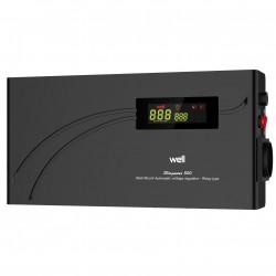 Stabilizator automat de tensiune cu releu Well 500VA/300W, negru cod AVR-REL-500VA-HBK-WL - ShopTei.ro