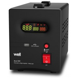 Stabilizator Automat De Tensiune Cu Releu Well 1000va/600w Avr-rel-guard1000-wl - ShopTei.ro