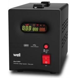Stabilizator Automat De Tensiune Cu Releu Well 2000va/1200w Avr-rel-guard2000-wl - ShopTei.ro
